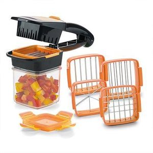 Fruit and Vegetable Cutter Nicer Dicer Quick 4 Blades Stainless Steel