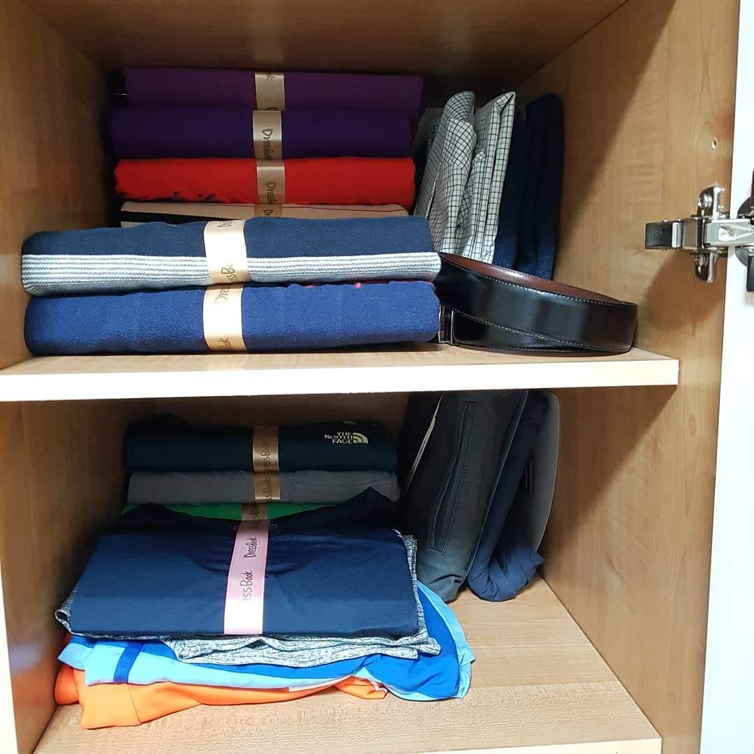 (Factory Outlet- 50% OFF today!)DressBook Foldable Clothes Organizer - Made In America