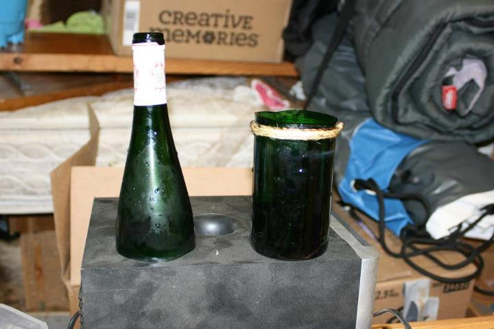 Cutting Glass Bottles With Yarn