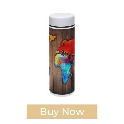 HEY BOX Wooden Board Thermos Water Bottle
