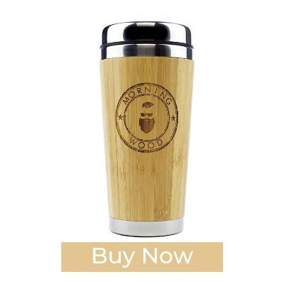 Morning Wood Premium Bamboo Wooden Thermos