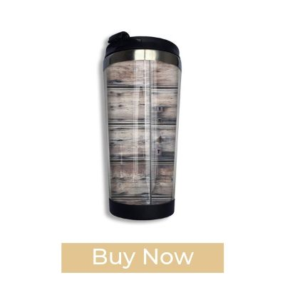 PengMin Wood Board Pattern Stainless Steel Thermos