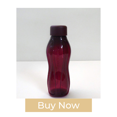 Tupperware Small to Go BlackBerry Drinking Bottle