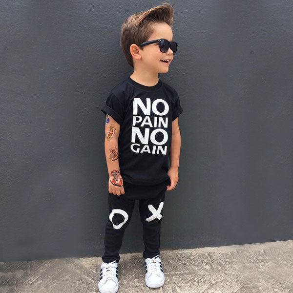 No Pain - Toddler 2-Piece Tee & Pant Set