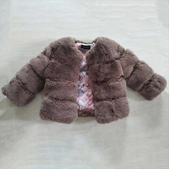 Thick Faux Fur - Baby Girl Jacket