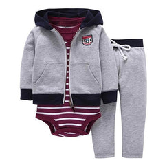 Long Sleeve Hooded- Baby Boy Bodysuit