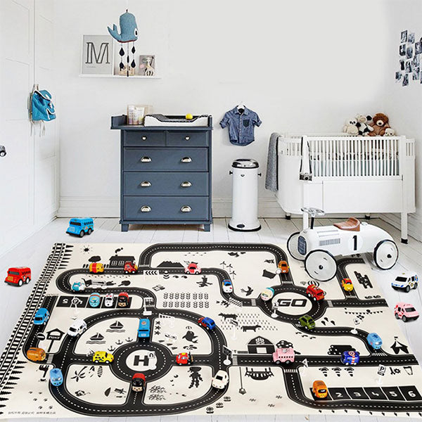 Traffic Rush - Baby Playmat 130x100cm