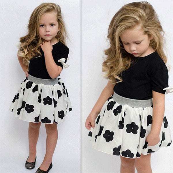Malibu Toddler Girl 2-Piece Top & Skirt Set