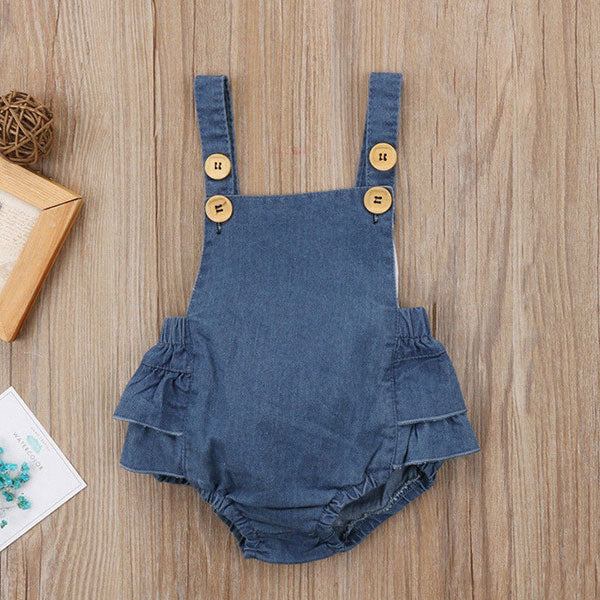 Baby Girl One Piece Denim Romper