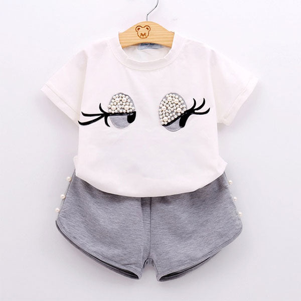 Cute Baby 2-Piece Top & Shorts Set