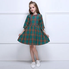 Ava Green Plaid Straps -  Toddler Girl Dress