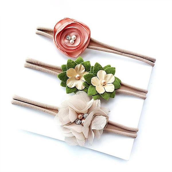 Floral Bowknot - Baby Girl headbands