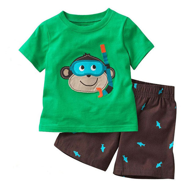 Little Chip Tee & Short Pants - Toddler Boy Outfit