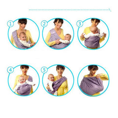 Ergonomic Cotton Baby Carrier Sling