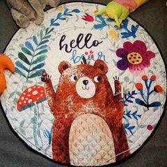 Hello Bear - Round Baby Playmat