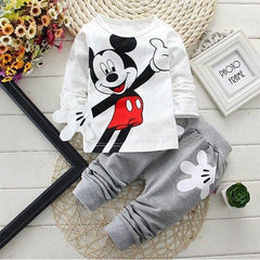Mouse Cartoon - Baby Boy Bodysuit