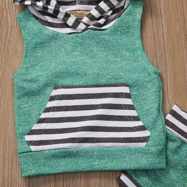 Poco Sleeveless Hoodie & Shorts - Baby Outfit