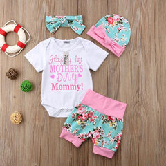 O-Neck Baby Girls Romper