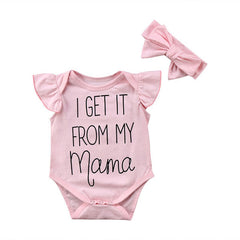 Got From Mama - Baby Girl 2-Piece Romper Set