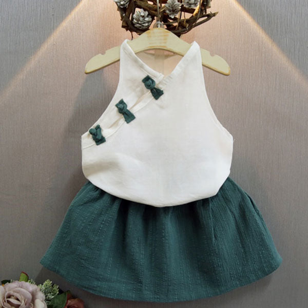Siobhan Vest & Tutu Skirt - Baby Girl Outfit
