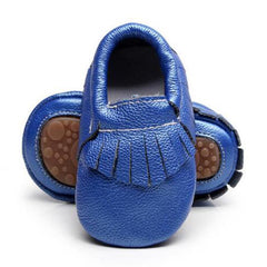 Moccasins Handmade Leather - Baby Girl Shoe