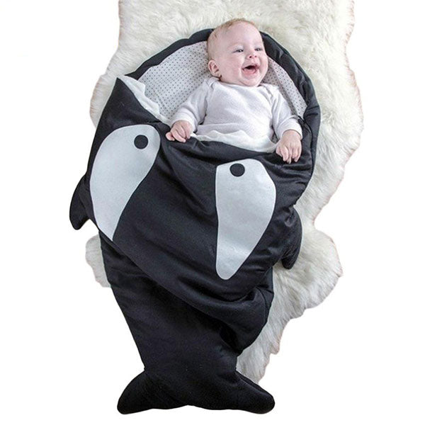 Black Baby Shark Sleeping Bag
