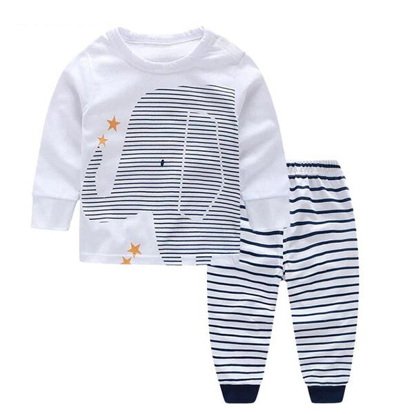 Baby Elephant - Long sleeves Tee & Pajama set