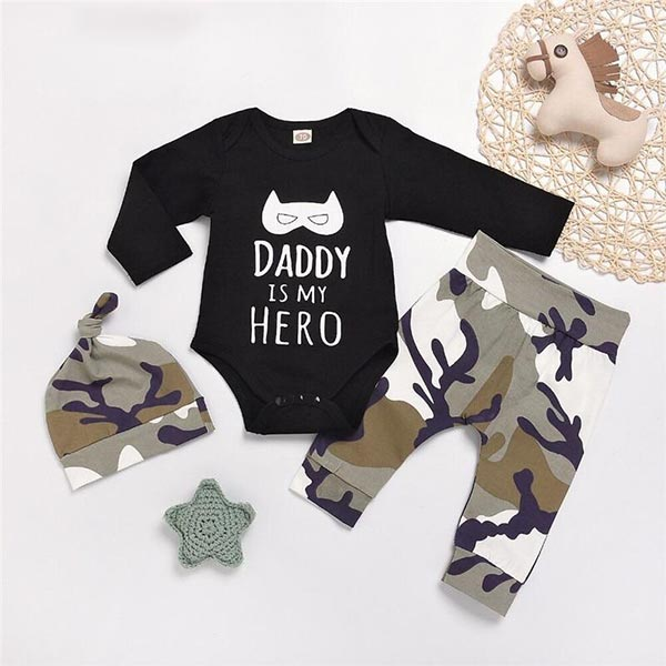Daddy Hero - Baby Boy Bodysuit