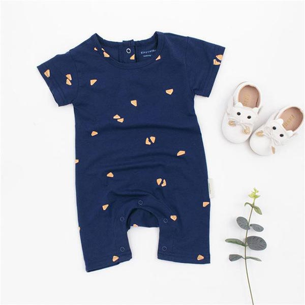 Blue Playsuit - Baby Boy Romper