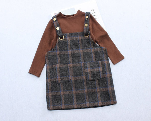 Niamh Plaid Straps -  Toddler Girl Dress