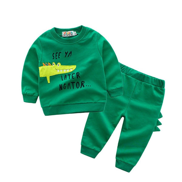 Cute Gator Shirt & Pants - Toddler Boy Outfit