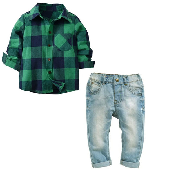 George Shirt & Jeans - Toddler Boy Outfit Set