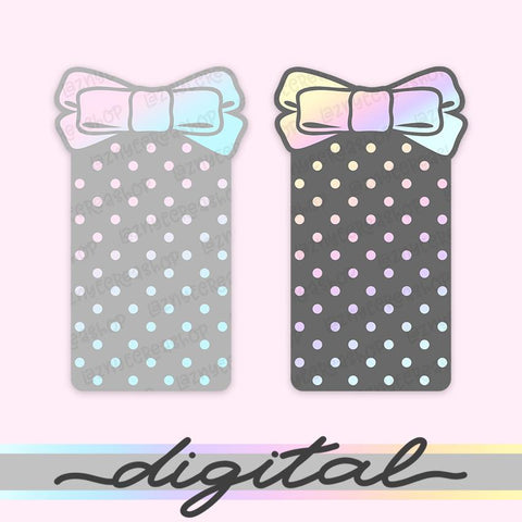 Digital Bow Washi Tape Cards