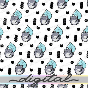 Anime Digital Planner Paper, Pastel, Cute Cat, Paper Vellum, Doodle, Hand Draw, Cute, JPG, PDF, Download