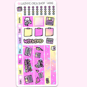 80's Hobonichi Weeks Stickers Kit, Retro Hobonichi Stickers, 80s Stickers, Holdschool Hobonichi Stickers, Functional Stickers, Planner Stickers, Hand Draw Stickers, Doodle Stickers