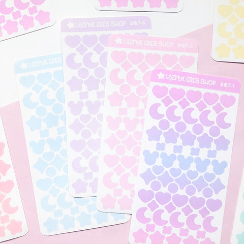 Confetti Stickers, Deco stickers, Kpop Stickers, Kpop journaling, Bullet Journal Stickers, Hand Draw Stickers, Doodle Stickers