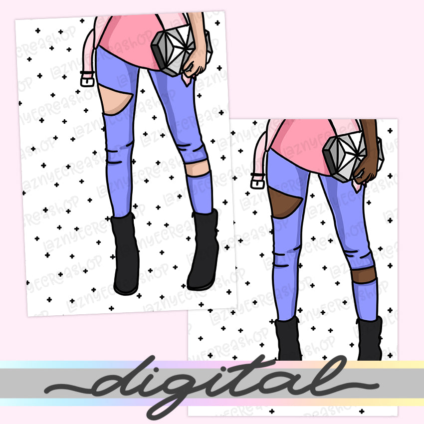 Printable Fashion Girl Legs Dashboard, Planner Girl Cover, Fashion Print, B6 A6 A5 Mini Happy Planner Pocket Personal Wide Inserts PDF