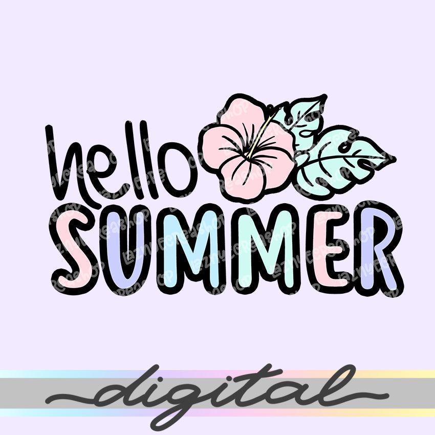 Printable Hello Summer Die Cuts, Cute Quotes Clipart, Planner Die Cuts, Bullet Journal, TN Die Cuts, Printable Planner Die Cut