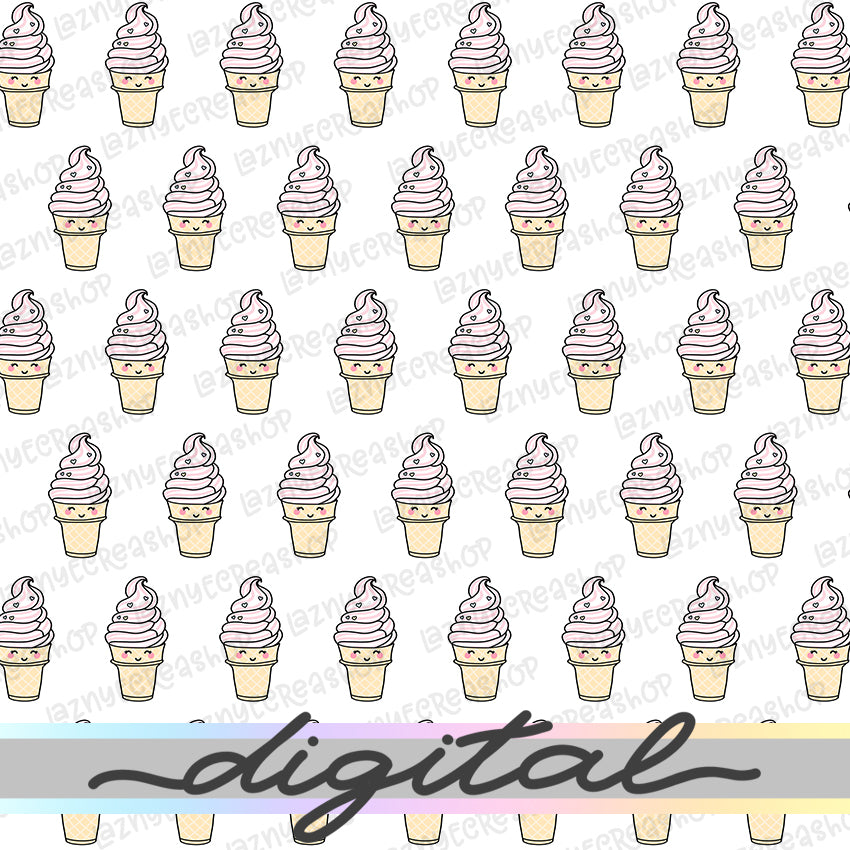 Printable Ice Cream Digital Planner Paper, Paper Vellum, Doodle, Hand Draw, Cute, Bullet Journal, TN Vellum, JPG, PDF, Download