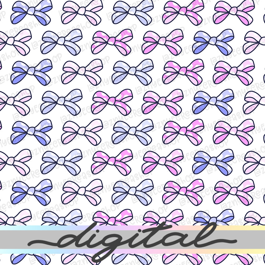 Printable Bow Digital Planner Paper, Bow Paper Vellum, Doodle, Hand Draw, Cute, Bullet Journal, TN Vellum, JPG, PDF, Download