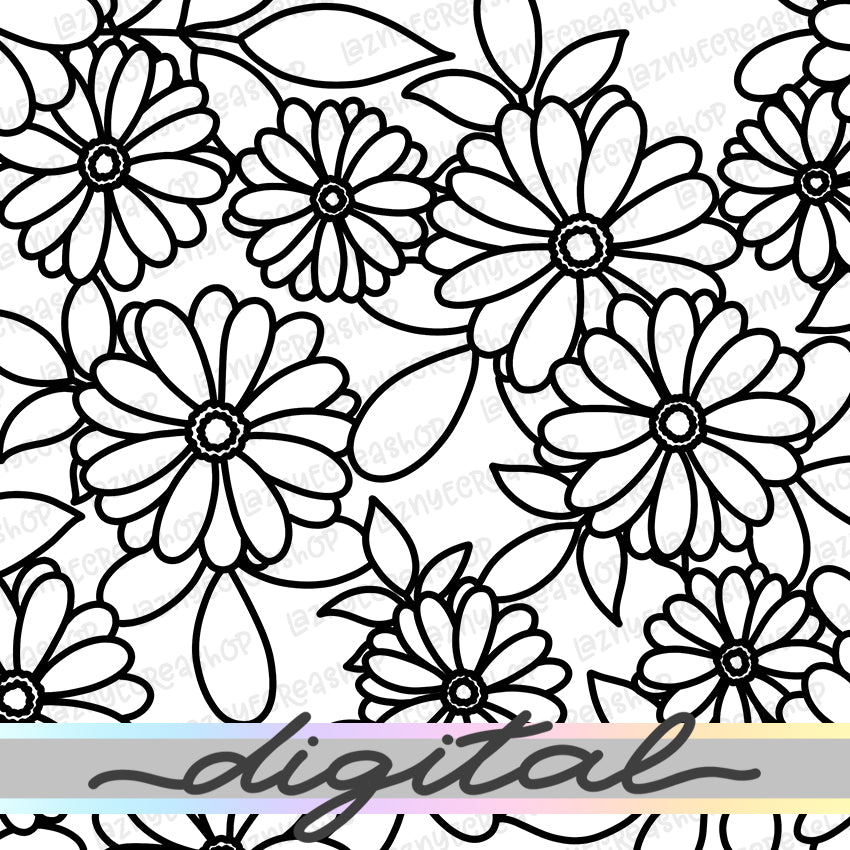 Printable Flower Digital Planner Paper, Paper Vellum, Doodle, Hand Draw, Cute, Bullet Journal, TN Vellum, JPG, PDF, Download