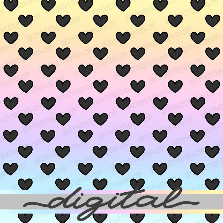 Printable Rainbow Hearts Digital Planner Paper, Paper Vellum, Doodle, Hand Draw, Cute, Bullet Journal, TN Vellum, JPG, PDF, Download