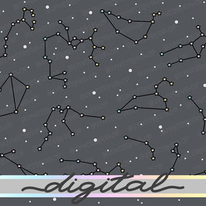 Printable Zodiac Constellation Digital Planner Paper, Zodiac Signs, Stars, Witch, Paper Vellum, Doodle, Hand Draw, Cute, Bullet Journal, TN Vellum, JPG, PDF, Download