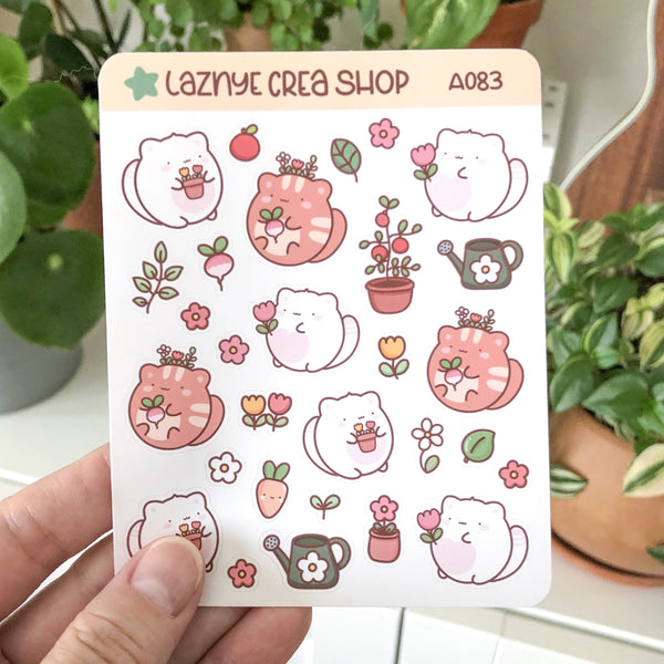 Garden Cats Stickers #A083