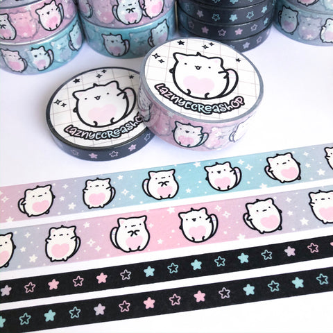Yume The Cat Washi Tape Set, Planner Washi Tapes, Washi Tape Rolls, Pastel, Cute Washi, Planner Accessories