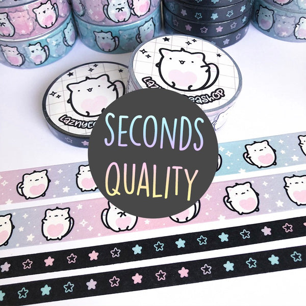50% off SECONDS QUALITY Washi Tape Set #W001S