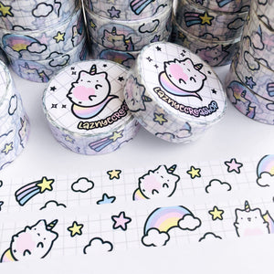 Unicorn Cat Washi Tape, Planner Washi Tapes, Washi Tape Rolls, Pastel, Cute Washi, Planner Accessories