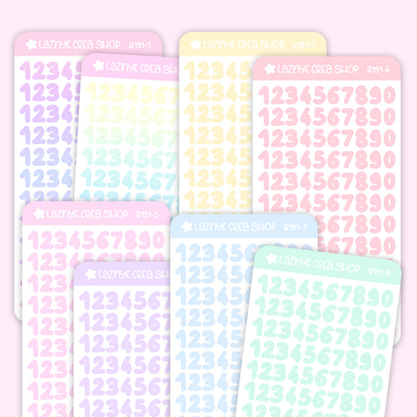 Number stickers, Confetti Stickers, Deco stickers, Kpop Stickers, Kpop journaling, Bullet Journal Stickers, Hand Draw Stickers, Doodle Stickers