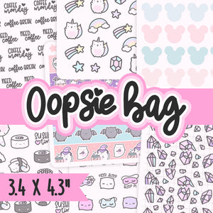 Oopsie sticker bags, Oops Stickers, Cat Stickers, Planner Stickers, Random Stickers, Bullet Journal Stickers, Hand Draw Stickers, Doodle Stickers