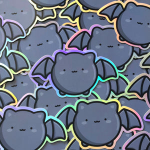 Halloween Holo Vinyl Stickers, Pumpkin, Holographic Vinyl Stickers, Rainbow, Unicorn, Weatherproof Vinyl Stickers, Kawaii Stickers, Doodle Planner Diecut